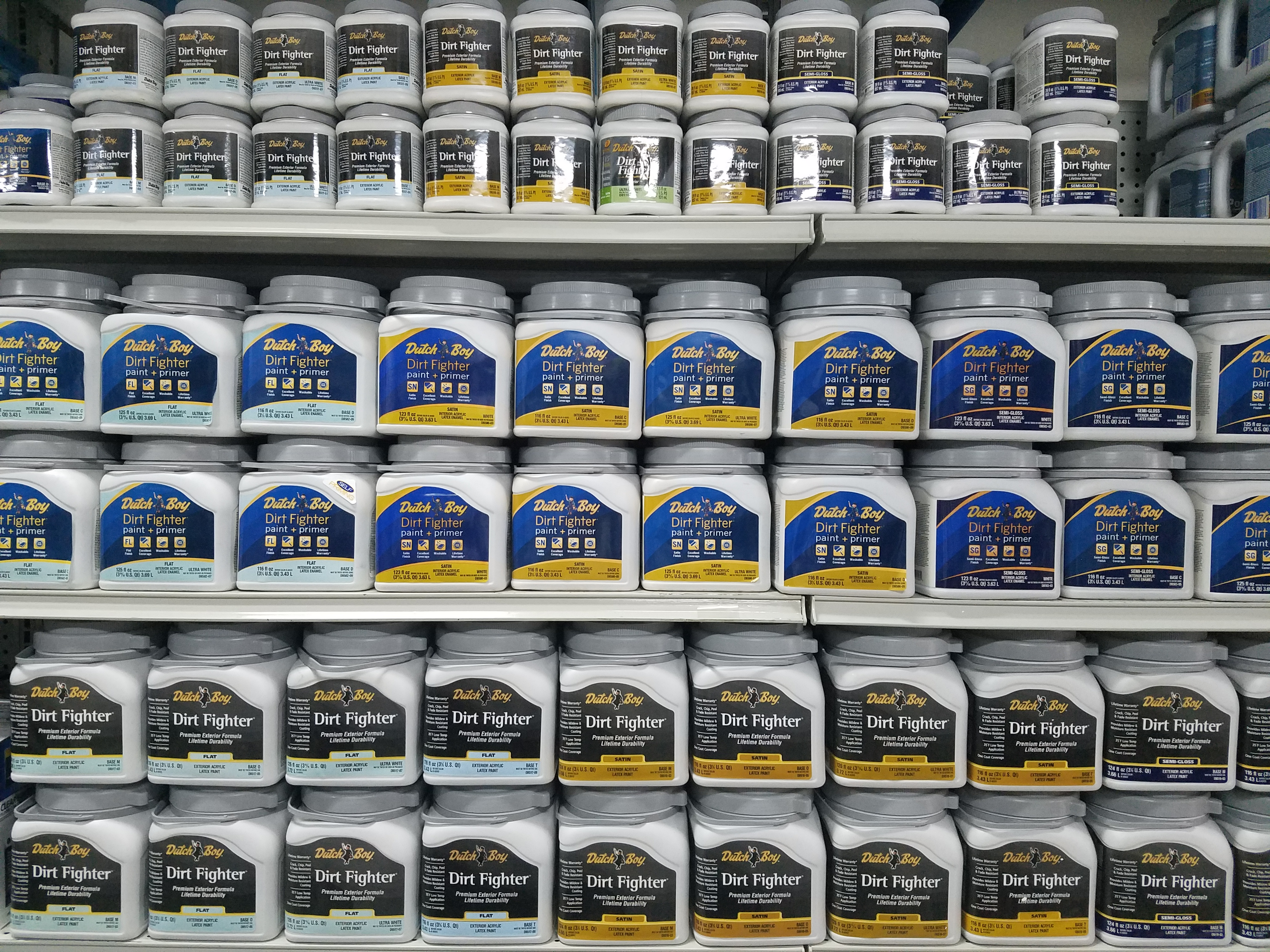 Dutch Boy Paint Is Water Based. It Can Be Mixed In A Wide Variety Of Colors  To Your Taste.